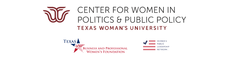 Logos for the Center for Women in Public Policy, Texas Business and Professional Women's Foundation, and Women's Public Leadership Network